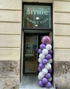 The entrance to SmileDirectClub's pop-up store
